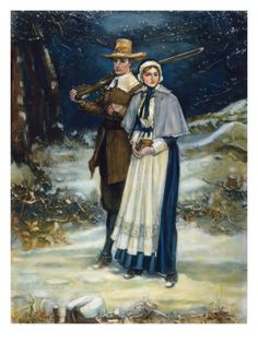 Puritans Going to Church Print by George Henry Boughton at Art.com