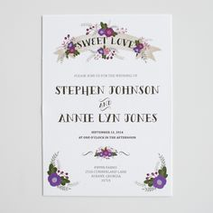 the violet invitation suite   wedding invitations | the wedding chicks