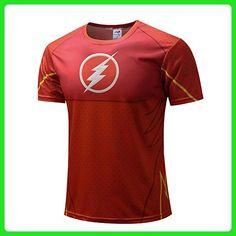 HOCOOL Mens Flash Suit Up Sublimated Costume Shirt Fitness Gym Tee 2XL - Workout shirts (*Amazon Partner-Link)