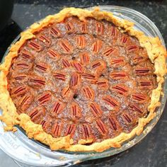 Inspired By eRecipeCards: Caramel Pecan Pie with my Mother-In-Law's Pie Crust Recipe - Church PotLuck Dessert