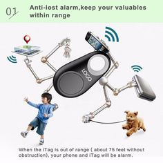 Anti-lost Mini Tracer Wireless Bluetooth GPS Tracker for Pet Baby Cellphone Wallet Key Bag Tracking Portable Selfie Recording #Affiliate
