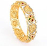 Bangle Bracelets, Bangles, India Wedding, Indian Bollywood, Green Stone, Red Green, Party Wear, Brooch, Jewellery