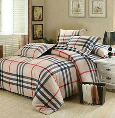Contemporary Luxury Bedding Designer Comforter Sets Gucci Whole Set Plaid  Bedclothes Duvet Cover Doona Sheet Pillowcase Queen King With Cheap   Satin  Luxury ...