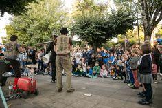 """""""Teatro de Rúa"""" co espectáculo """"Ritmo Refugallo"""" da compañía Trío Refugallo #FIOT25"""