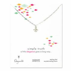 elegance little fleur de lis necklace, sterling silver - Dogeared