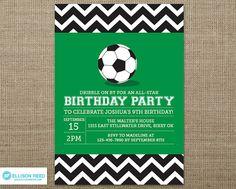 Soccer Invitation  Sports Birthday  Soccer by EllisonReed on Etsy, $16.00