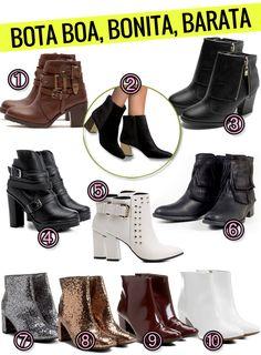Uma seleção de botas