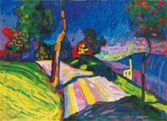 Wassily Kandinsky, Murnau - Kohlgruberstrasse, 1908 (Merzbacher Kunststiftung and Werner & Gabrielle Merzbacher).