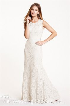 An informal lace wedding dress that's charming and elegant. Encore by Watters Andrea