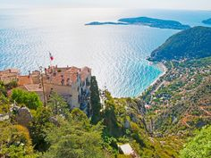For a more subdued Riviera experience, bypass Nice and Cannes for Eze, whose rocky hillside location 1,400 feet above the sea makes for stunning views of the Mediterranean.