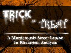 This awesome lesson uses a trick-or-treat-like structure for providing students a bit of choice (and a bit of fun) in determining which video clips they'll be analyzing.  In the spirit of Halloween, students will be shown a combination of trailers for horror films and candy commercials -- to be analyzed and synthesized throughout the course of the lesson.   Join the TeachArgument Community to gain instant access to this lesson, as well as every other TeachArgument pop culture resource.....