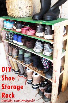 Full size of garage door:extraordinary garage tool organizer rack pallet diy shoe storage shelves Shoe Shelf Diy, Shoe Storage Shelf, Diy Shoe Rack, Shoe Shelves, Storage Ideas, Shoe Racks, Storage Racks, Kitchen Storage, Garage Shoe Storage