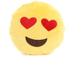 "7817BOXTI Assorted 16"" Plush Emoji Pillow"