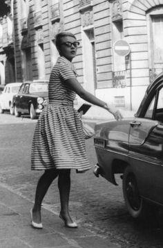 Jean Seberg.  À bout de souffle, 1960, by Jean-Luc Godard.