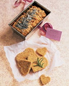Rosemary-Walnut Shortbread Cookies Valentine's Day Cookie Recipes   Martha Stewart Living - Rosemary represents remembrance.
