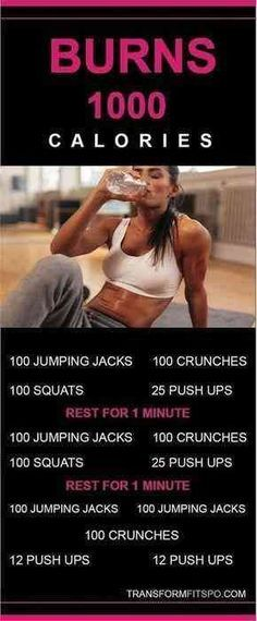 1000 Calorie Workout. #WorkoutTips