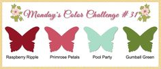 stampin up color challenge combinations - Bing Images