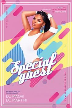 Geometric Special Guest Flyer Template - Best of Flyers Free Flyer Templates, Facebook Timeline, Party Flyer, Party Guests, Special Guest, Flyers, Ruffles, Leaflets