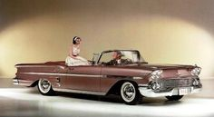 1958 Chevrolet Impala Convertible - picture this in red - the car of my dreams!