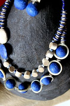 """Balungi Blue Edition Necklace   """" Certain things catch your eye, but pursue only those that capture your heart """" ...The Balungi flagship Store is slowly taken over by blue and green and a touch of silver...Moreover Balungi """"HEART YOU.""""...blue is the new red for valentine!"""