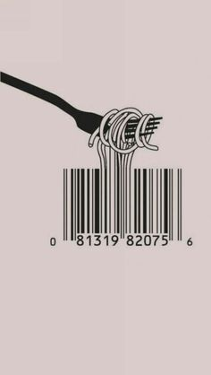 The graphic design makes it an excellent illustration (in its literal meaning). The message makes it a brilliant illustration (in its figurative meaning): the illustration of mass consumption in its purest form. Design Art, Web Design, Logo Design, Barcode Design, Barcode Art, Design Elements, Smart Design, Funny Design, Art Graphique