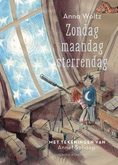 'Zondag, maandag, sterrendag' van Anna Woltz won een Vlag en Wimpel in de categorie 6 jaar en ouder. Maar dit eenvoudig te lezen verhaal is ook erg leuk voor kinderen in de bovenbouw! Roald Dahl, Book Review, Anna, Children, Kids, Cover, Books, Painting, Travel