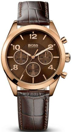 Hugo Boss Rose Gold Leather Chronograph Ladies Watch 1502311