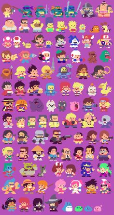 300 Famous Characters, Redrawn in Pixels