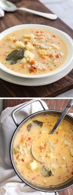 Gluten-Free Quinoa and Cauliflower Chowder | foodiecrush.com