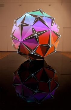 I don't know what it is but it looks cool. Modern Art, Contemporary Art, Visual Map, Origami, Tech Art, 3d Max, Looks Cool, Light Art, Sacred Geometry
