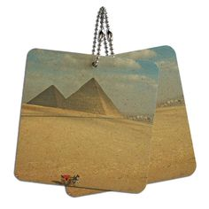 The Great Pyramids of Egypt Wood MDF 4' x 4' Mini Signs Gift Tags ** See this great product.