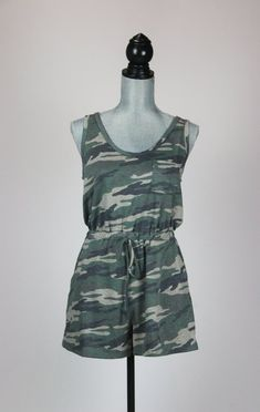 This soft and comfortable romper is cute and casual for summer. Wear it all day long with ease with a ball cap and sneakers or dress it up with heels and some cute earrings. Salt And Light, Cute Earrings, Camo, Jumpsuits, Rompers, Casual, How To Wear, Clothes, Dresses