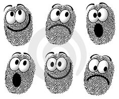 Illustration about An illustration featuring a silly group of fingerprints with cartoon-like faces smiling, sad, and surprised. Illustration of graphics, fingerprint, face - 4433688 Finger Painting, Painting & Drawing, Drawing Tips, Fingerprint Crafts, Thumb Prints, Cartoon Faces, Camping Crafts, Art Graphique, Diy Arts And Crafts