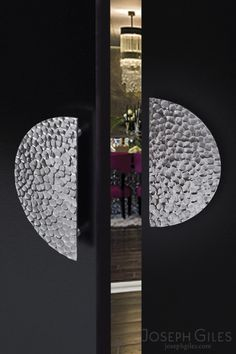 Joseph Giles Hammered Stainless Steel Door Pulls