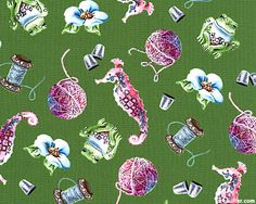 Enchanting Notions by Jim Shore for Quilting Treasures (Crafty Fairies collection).