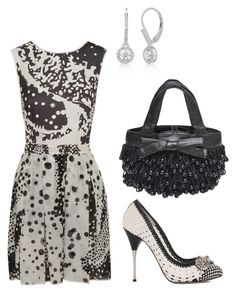 """Black & White Crochet"" by mrs-ginger-boss ❤ liked on Polyvore featuring мода, Alexander McQueen, Missoni, Belk & Co. и Koret"
