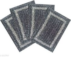 Checkout this latest Doormats_1000-1500 Product Name: *Trendy Cotton Doormat (Pack Of 4)* Fabric: Cotton Size: (L X W) - 60 cm X 40 cm      Description: It Has 4 Piece Of  Doormat  Pattern: Solid Country of Origin: India Easy Returns Available In Case Of Any Issue   Catalog Rating: ★4.1 (852)  Catalog Name: Trendy Cotton Doormats Combo Vol 6 CatalogID_507127 C55-SC1118 Code: 682-3637767-765