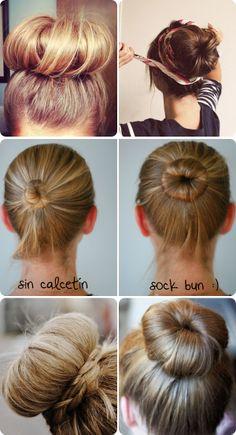 bloom 503: TUTORIAL: sock bun (for long hair)