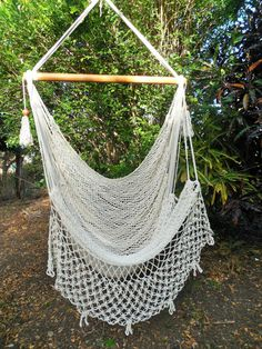 Large Cotton Hammock Chair For Indoor Or Outdoor Use