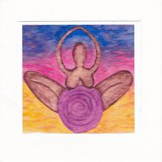 Handmade Purple & Blue Goddess Annis card. by Samsimillia on Etsy