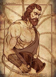 Hephaestus: God of blacksmiths, craftsmen, artisans, sculptors, metals, metallurgy, fire and volcanoes; Patron of House Crafter