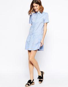 Vanessa Bruno Athe Coralie Shirt Dress with Braided Placket