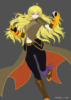 Flat colors Yang Xiao Long by ADSouto.deviantart.com on @DeviantArt