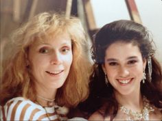 Here's a fantastic photo of Jennifer Connelly with Cheryl (aka. Gates) McFadden during a break from the ballroom scene - Labyrinth (1986)