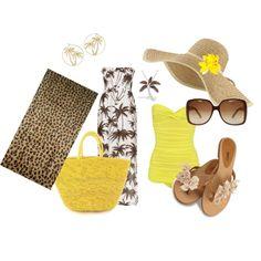Sun and Sand...cute palm tree dress