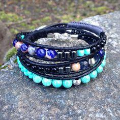 NEW  Ocean Inspired Triple Wrap Bracelet!  Hematite Sodalite Turquoise  -- Handmade  Local West Coast Jewelry >> wanderlustwrists.etsy.com  --> Link in bio #bracelet #bracelets #handmade #handmadebracelet #handmadejewelry #local #etsy #wanderlust #travel #explore #victoria #leather  #travelbracelet #crystalproperties #healing #bohemian #jewelry #wrapbracelet #chanluu #turquoise #adventure #westcoast #lavastone #adventure #summer #beach