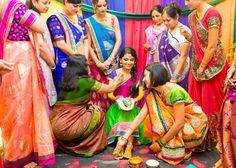 Haldi ceremony- So colorful!