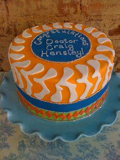 spine cake for graduation
