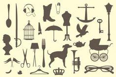 vintage silhouettes | Vintage victorian silhouettes pack | Download free Vector Vintage Silhouette, Silhouette Vector, Silhouette Cameo, Silhouette Files, Silhouettes, Victorian Lamps, Photos Hd, Free Vector Art, Design Elements