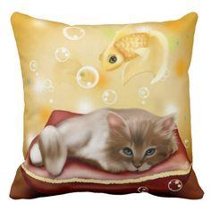 Kitten Dreams Pillow